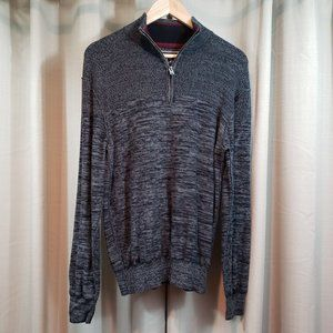 BUCKLE BLACK Men's Gray Athletic Fit Sweater